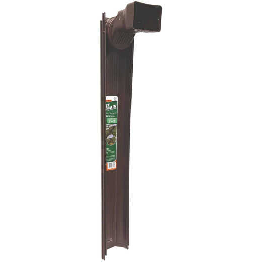 Frost King 6 Ft. Brown Tilt 'N Drain Adjustable Downspout Extender