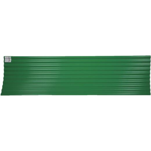 Tuftex Seacoaster 26 In. x 12 Ft. Opaque Green Round Wave  Vinyl Corrugated Panels