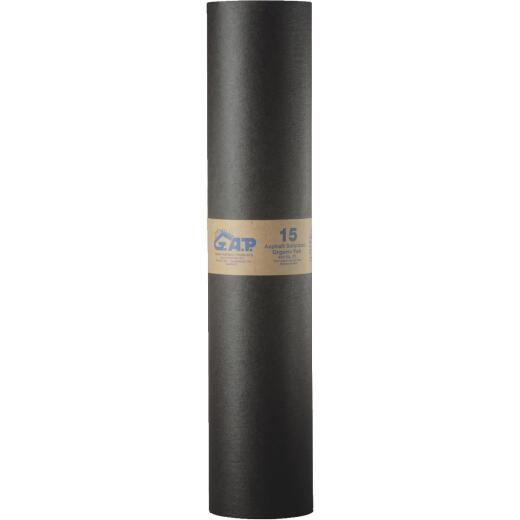 G.A.P. 38 In. x 138 Ft. Non-Rated 15 lb Roof Felt, Asphalt Saturated