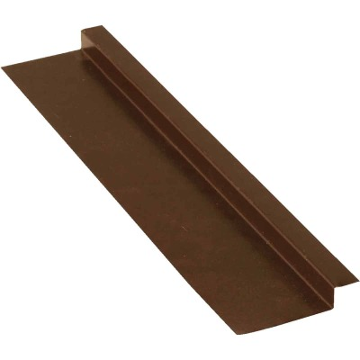 NorWesco 3/8 In. x 5/8 In. x 2 In. x 10 Ft. Brown Galvanized Ply Edge Z-Style Flashing