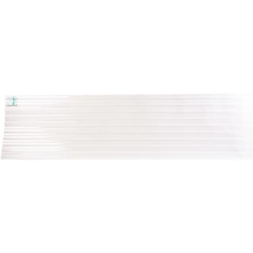 Tuftex PolyCarb 26 In. x 12 Ft. Translucent Clear Square Wave Polycarbonate Panels