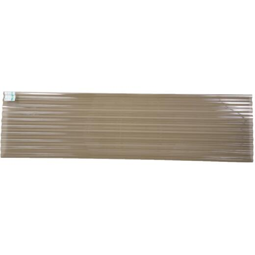 Tuftex PolyCarb 26 In. x 12 Ft. Translucent Smoke Square Wave Polycarbonate Panels