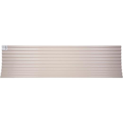 Tuftex Seacoaster 26 In. x 12 Ft. Opaque Tan Round Wave  Vinyl Corrugated Panels