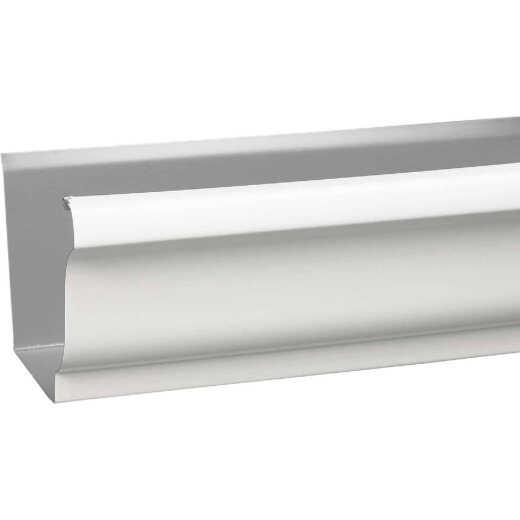 Amerimax 4 In. x 10 Ft. K-Style White Galvanized Steel Gutter