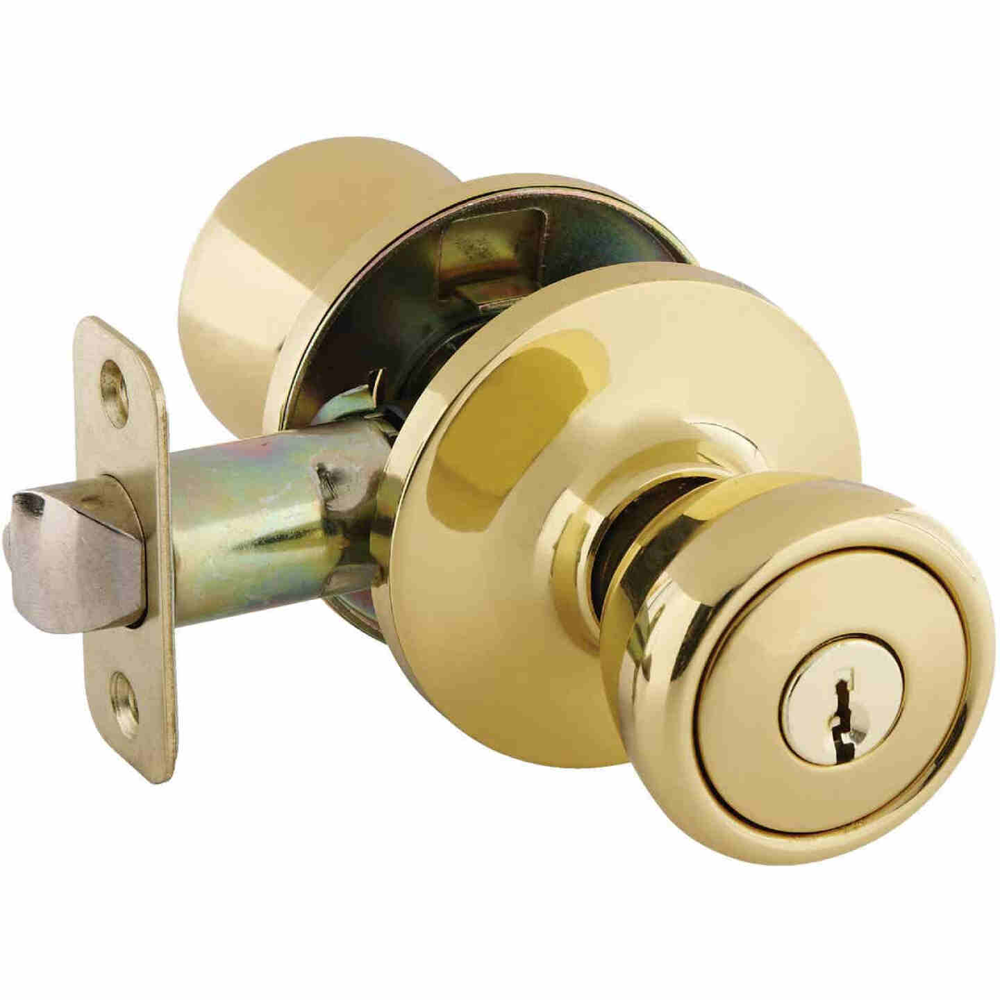 Ultra Hardware Ultra Security Series Polished Brass Entry Door Knob  Image 1
