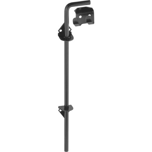 National 1/2 In. X 18 In. Black Steel Cane Bolt