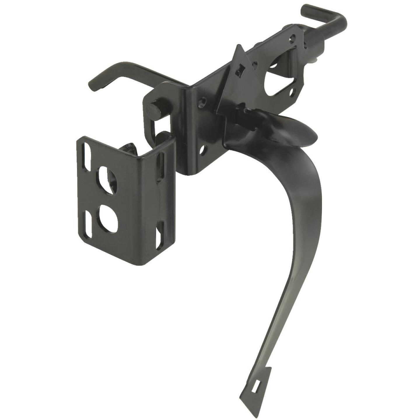 National Satin Black Heavy-Duty Gate Latch Image 1