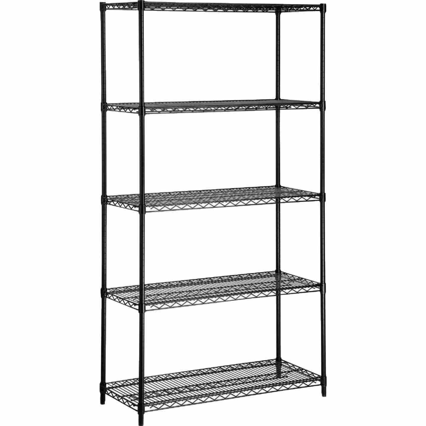 Honey Can Do 35 In. x 72 In. x 13 In. 5-Tier Black Stainless Steel Shelf Image 1