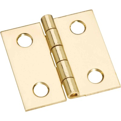 National 1 In. x 1 In. Brass Medium Decorative Hinge (4-Pack)