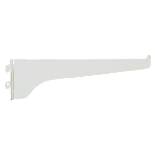 Knape & Vogt 180 Series 8 In. White Steel Regular-Duty Single-Slot Shelf Bracket