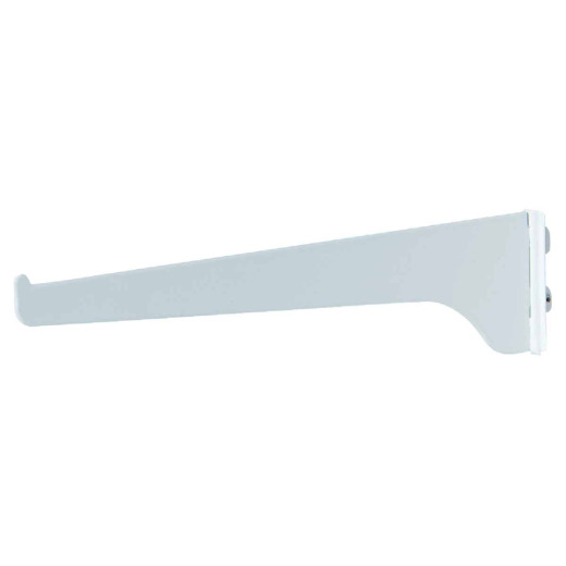 Knape & Vogt 180 Series 10 In. White Steel Regular-Duty Single-Slot Shelf Bracket