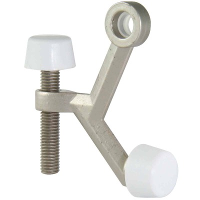 Ultra Hardware 3 In. Satin Nickel Hinge Pin Door Stop