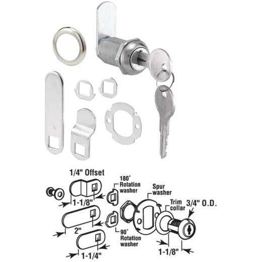 "Defender Security 3/4"" Steel Drawer & Cabinet Lock - Keyed Different"