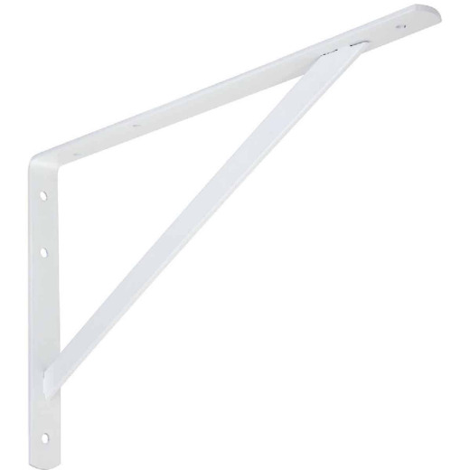 National 111 16 In. White Steel Super Strength Shelf Bracket