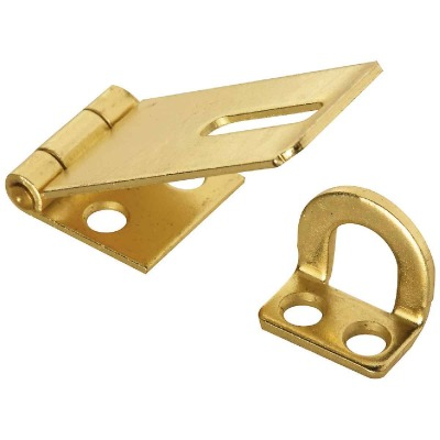 National 1-3/4 In. Brass Non-Swivel Safety Hasp