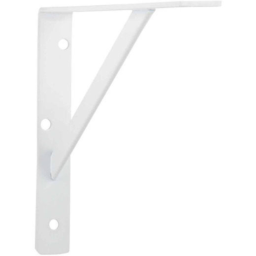 John Sterling 208 Series 12 In. D. x 8 In. H. White Steel Ultimate L-Bracket
