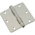 3-1/2 In. x 1/4 In. Radius Stainless Steel Door Hinge Image 1