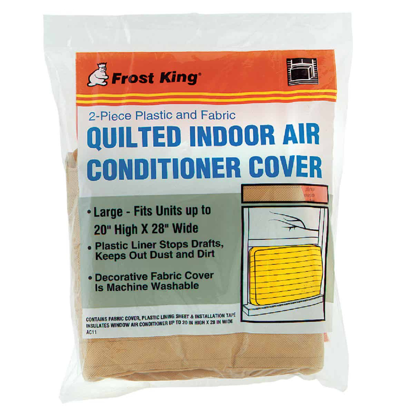 """Frost King 20"""" x 28"""" Rectangle Beige Air Conditioner Cover Image 1"""