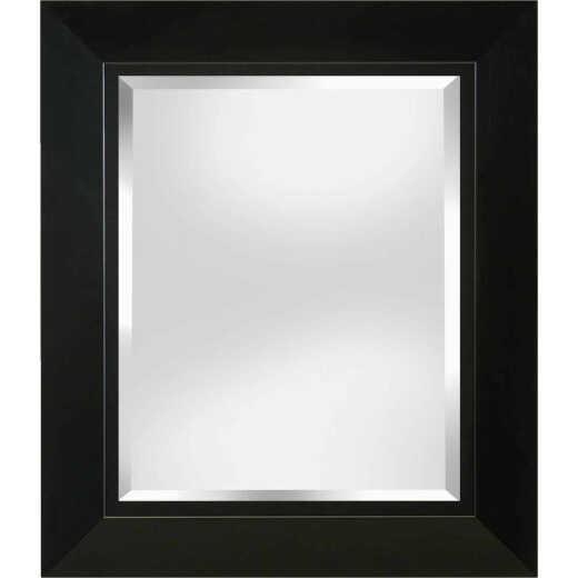 Erias Home Designs 23.5 In. W x 27.5 In. H Black Framed Wall Mirror