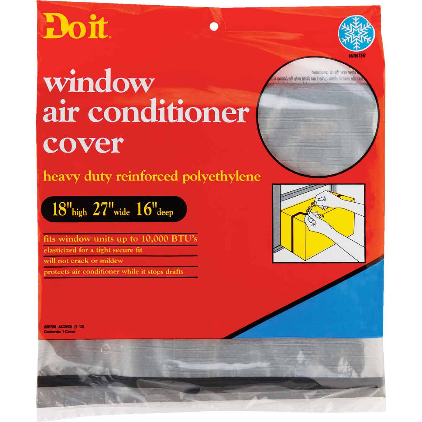 """Do it 18"""" x 27"""" x 16"""" 6 mil Rectangle Air Conditioner Cover Image 1"""