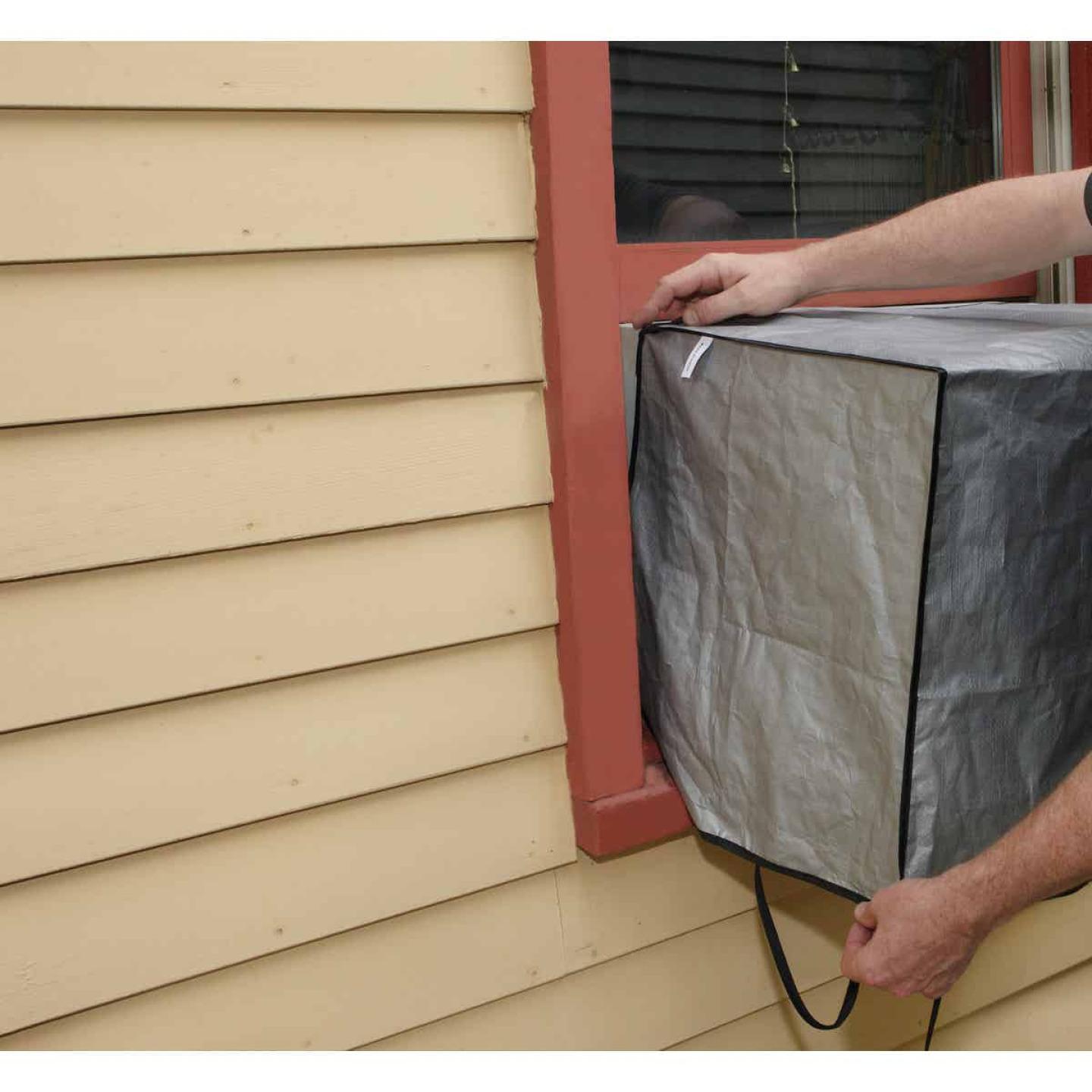 """Do it 18"""" x 27"""" x 16"""" 6 mil Rectangle Air Conditioner Cover Image 4"""