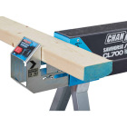 Channellock 39-1/4 to 45-3/4 In. Long Steel Adjustable Sawhorse Jobsite Table, 1300 Lb. Capacity Image 12