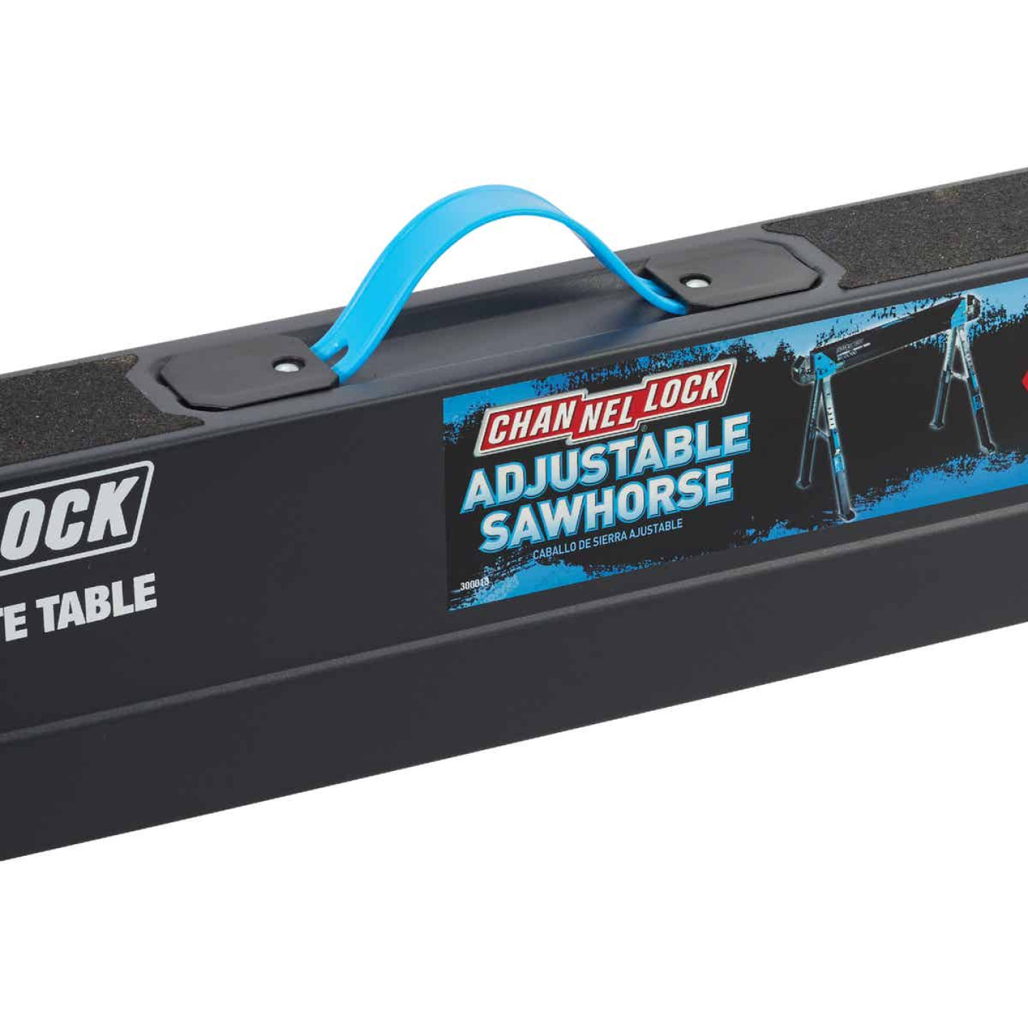 Channellock 39-1/4 to 45-3/4 In. Long Steel Adjustable Sawhorse Jobsite Table, 1300 Lb. Capacity Image 2