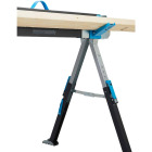 Channellock 39-1/4 to 45-3/4 In. Long Steel Adjustable Sawhorse Jobsite Table, 1300 Lb. Capacity Image 18
