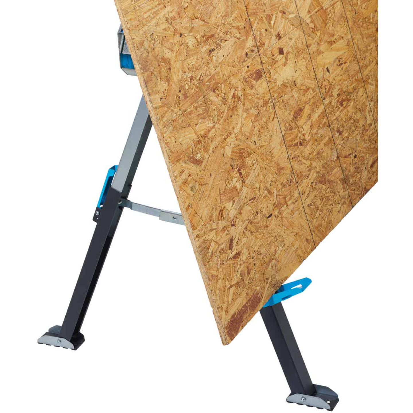 Channellock 39-1/4 to 45-3/4 In. Long Steel Adjustable Sawhorse Jobsite Table, 1300 Lb. Capacity Image 9