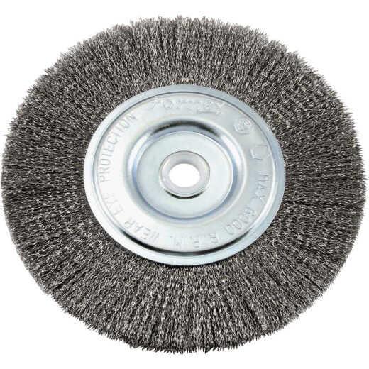 Forney 6 In. Crimped, Fine .008 In. Bench Grinder Wire Wheel