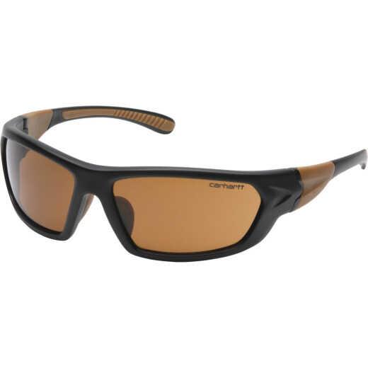 Carhartt Carbondale Black & Tan Frame Safety Glasses with Bronze Lenses