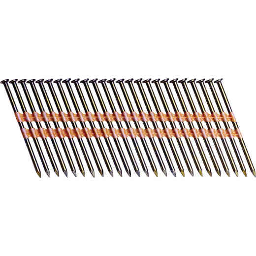 Grip-Rite 21 Degree Plastic Strip Bright Smooth Shank Full Round Head Framing Stick Nail, 2-3/8 In. x .113 In. (5000 Ct.)