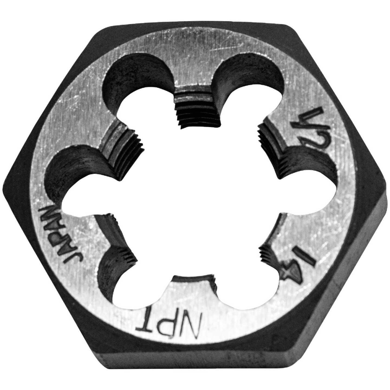 "Century Drill & Tool 1/2-14 NPT 1"" Across Flats Hexagon Pipe Die Image 1"