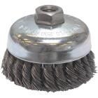 Weiler Vortec 4 In. Knotted 0.02 In. Angle Grinder Wire Brush Image 1
