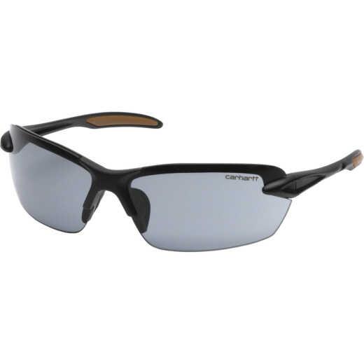 Carhartt Spokane Black Temple Safety Glasses with Gray Lenses