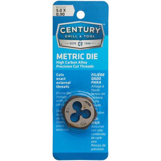 Century Drill & Tool 5.0x0.90 1 In. Across Flats Die Metric Hexagon