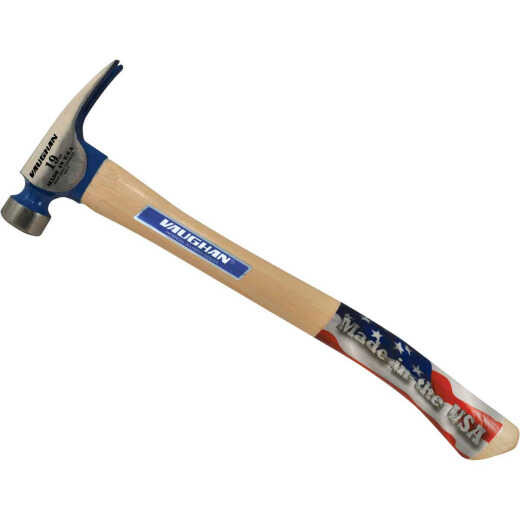 Vaughan BlueMax California 19 Oz. Milled-Face Framing Hammer with Hickory Handle