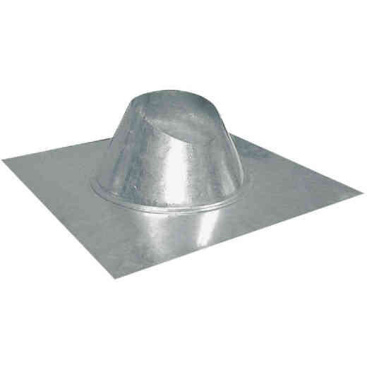 Imperial 8 In. Galvanized Rainproof Roof Pipe Flashing