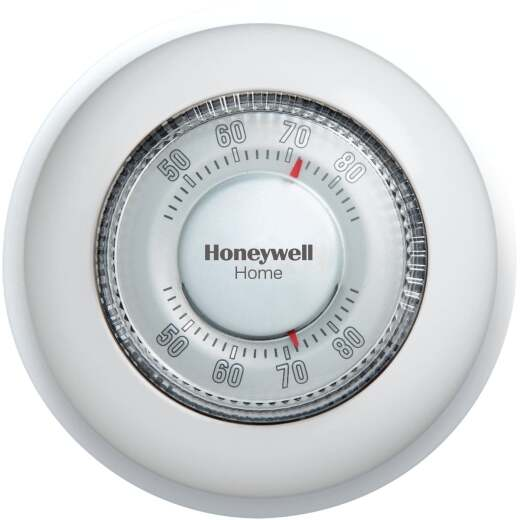 Honeywell Heat Only Off White Round Wall Thermostat