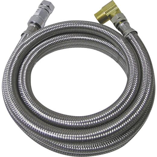 B&K SureDry 3/8 In. x 3/8 In. x 60 In. Stainless Steel Dishwasher Connector