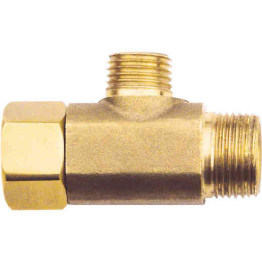 Do it 3/8 In. OD Fem x 3/8 In. OD x 1/4 In. OD Brass Extender Tee