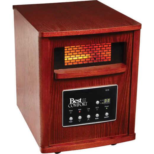 Best Comfort 1500-Watt 120-Volt Quartz Heater with Woodgrain Cabinet