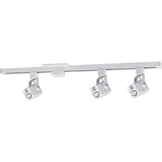 Liteline 4-3/5 In. H. X 4 Ft. L. X 5-1/8 In. D. X 3 In. Dia. White 3-Bulb Track Light Kit