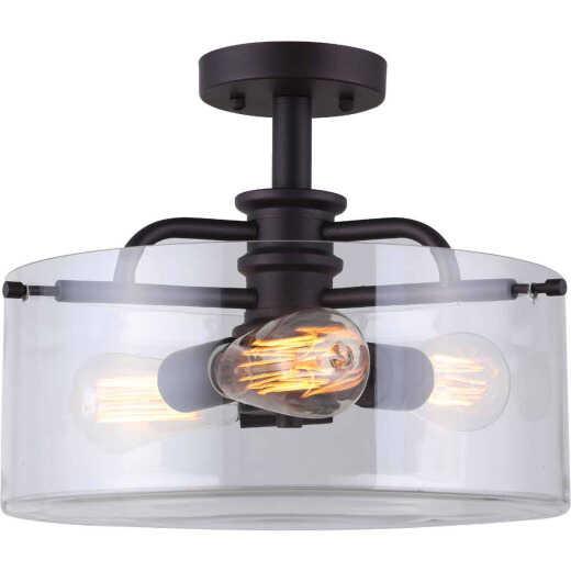 Home Impressions Albany 14 In. Oil Rubbed Bronze Incandescent Semi-Flush Mount Light Fixture