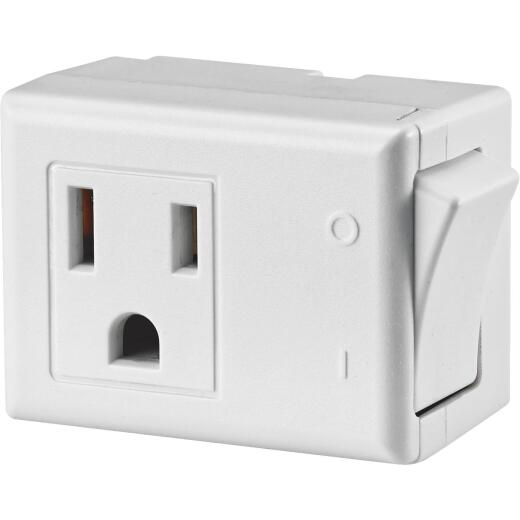 Leviton White 15A Plug-In Switch