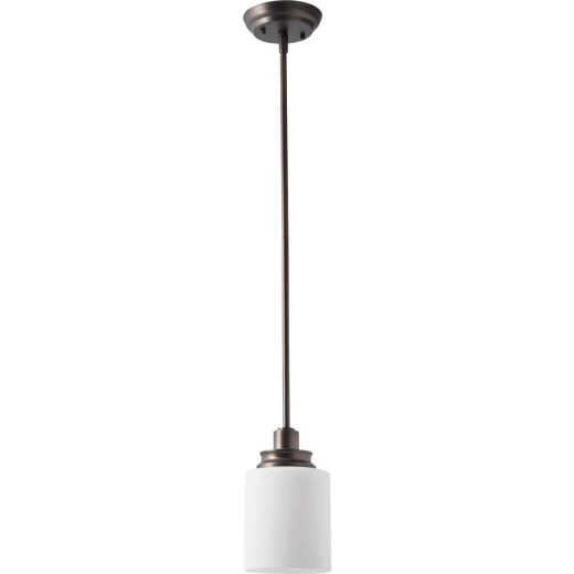 Home Impressions Crawford 1-Bulb Oil Rubbed Bronze Incandescent Pendant Light Fixture