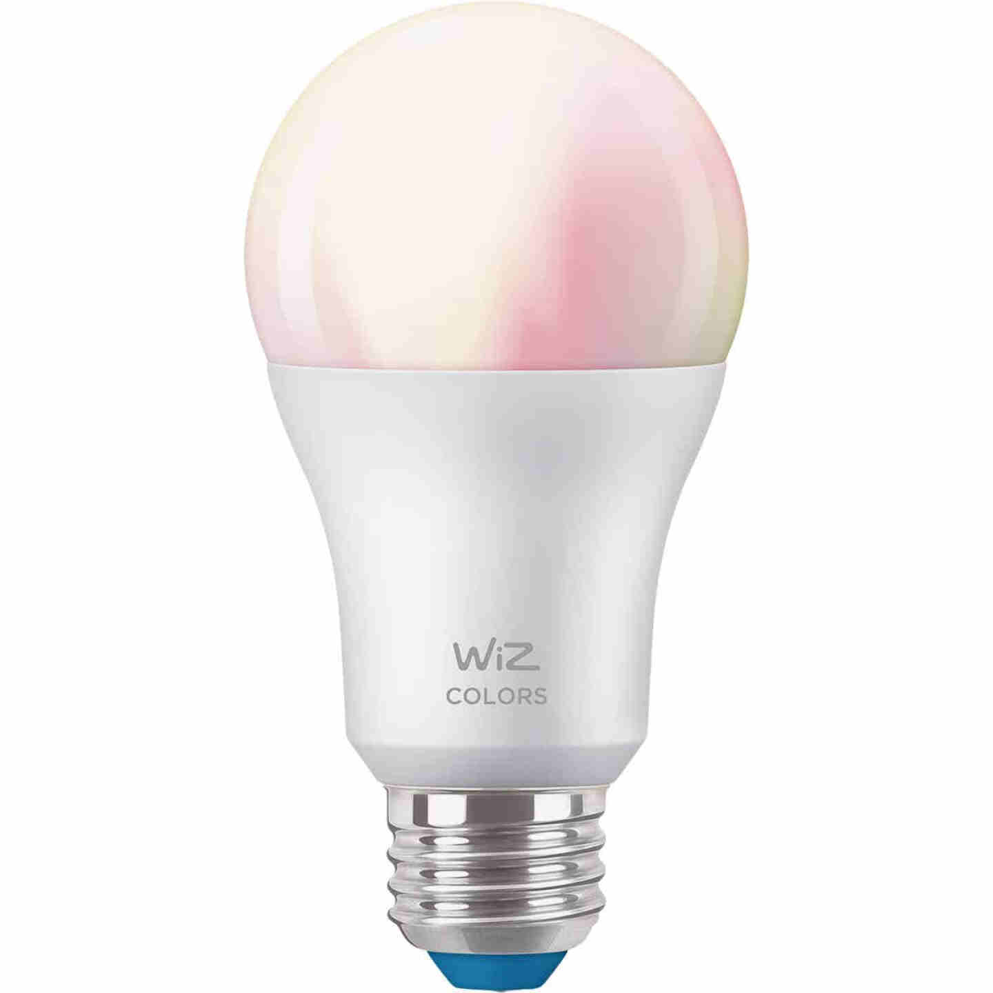Wiz 60W Equivalent Color Changing A19 Medium Dimmable Smart LED Light Bulb Image 2