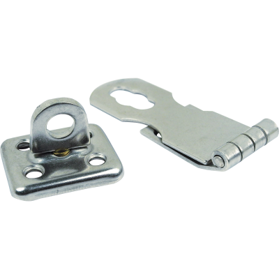 Seachoice 1 In. x 2-3/4 In. Polished Stainless Steel Swivel Eye Safety Hasp