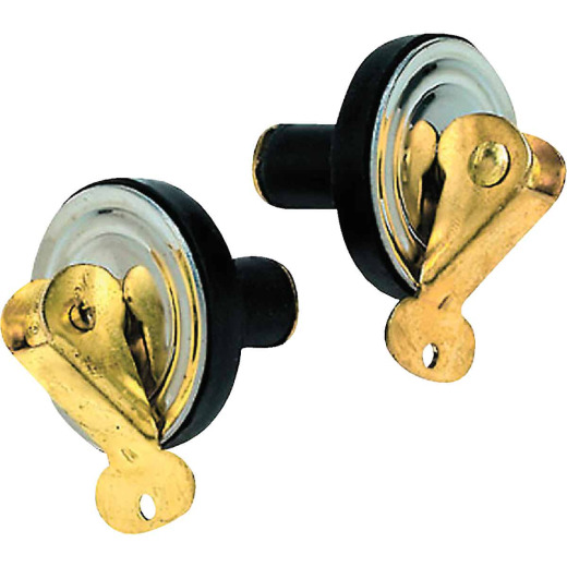 Seachoice 1/2 In. Stainless Steel Plate/Brass Can Baitwell Plug