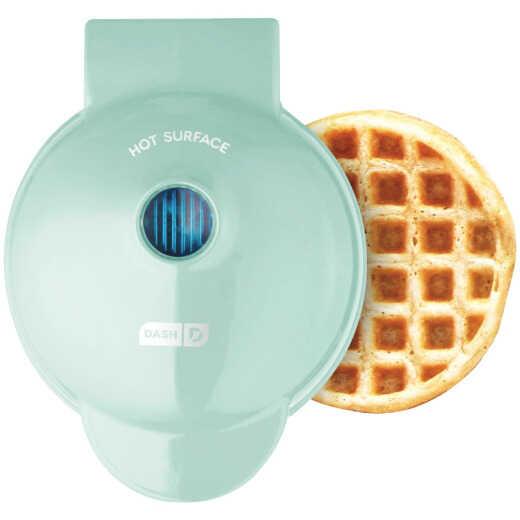 Dash 4 In. Aqua Mini Waffle Maker